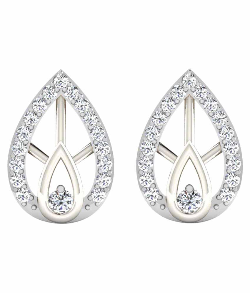 His & Her 18K White Gold Diamond Studs