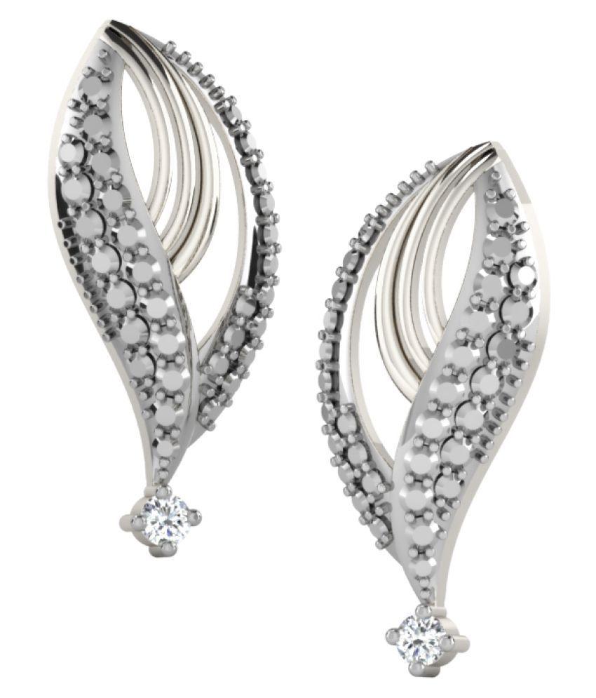 His & Her 9K White Gold Diamond Drop Earrings