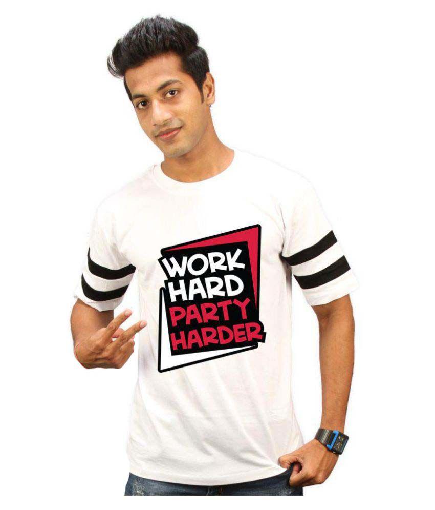High Five Clothing White Round T-Shirt