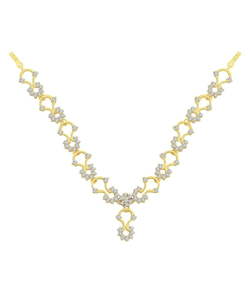 Sparkles 9K Yellow Gold Necklace