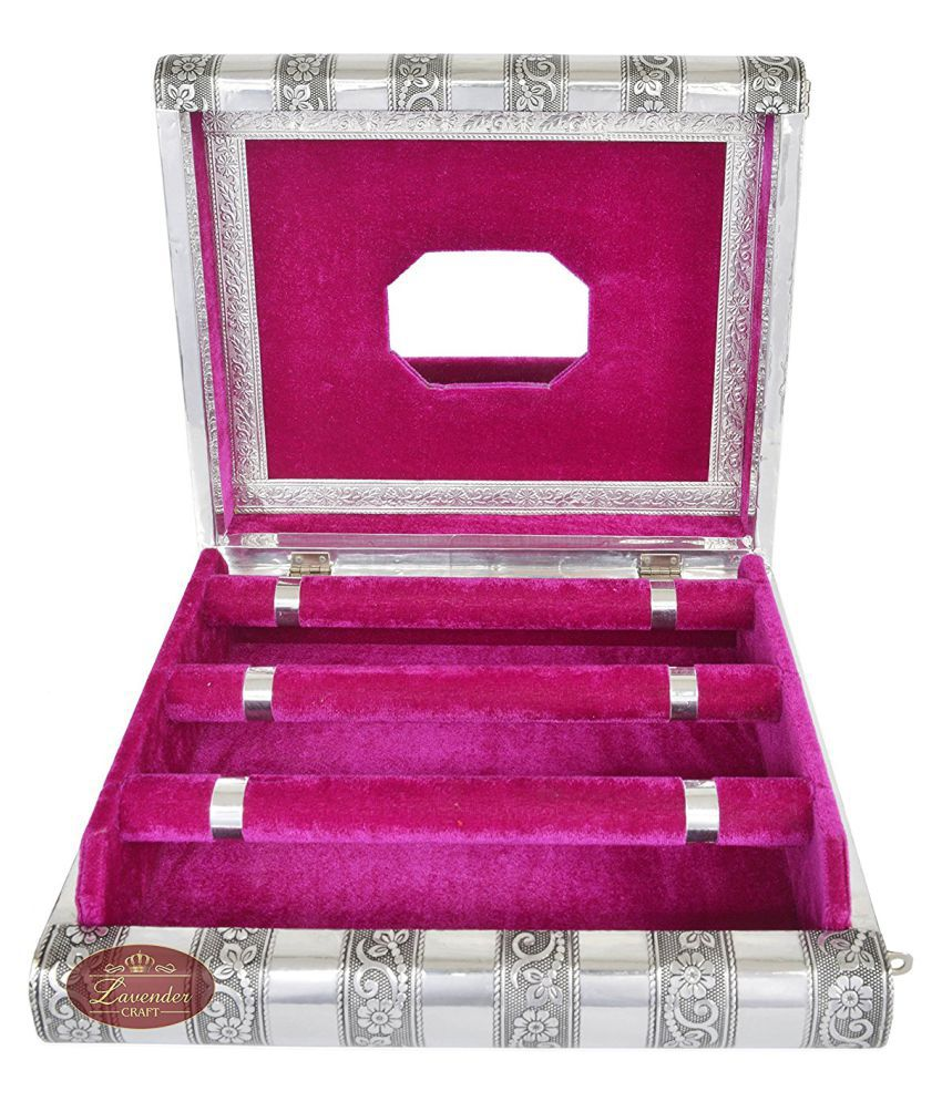 Jillian Pink Aluminum Bangle Box