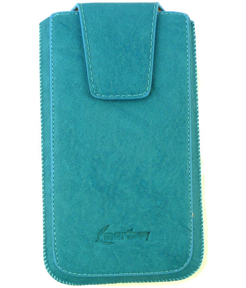 Lava A68 Flip Cover by Emartbuy - Blue
