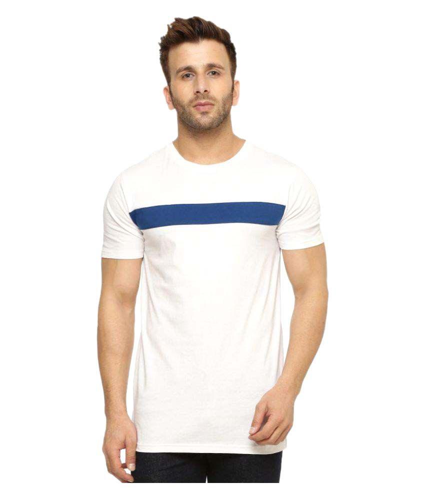 Gritstones White Round T-Shirt