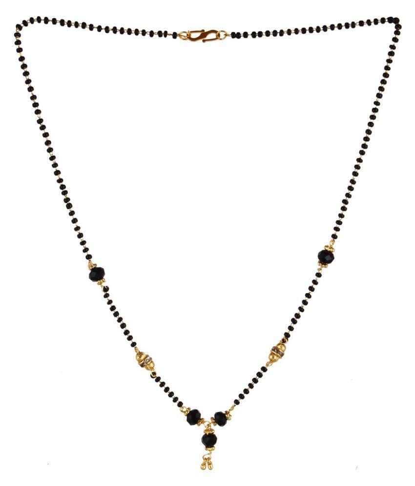 Fabula Black American Diamond Magalsutra