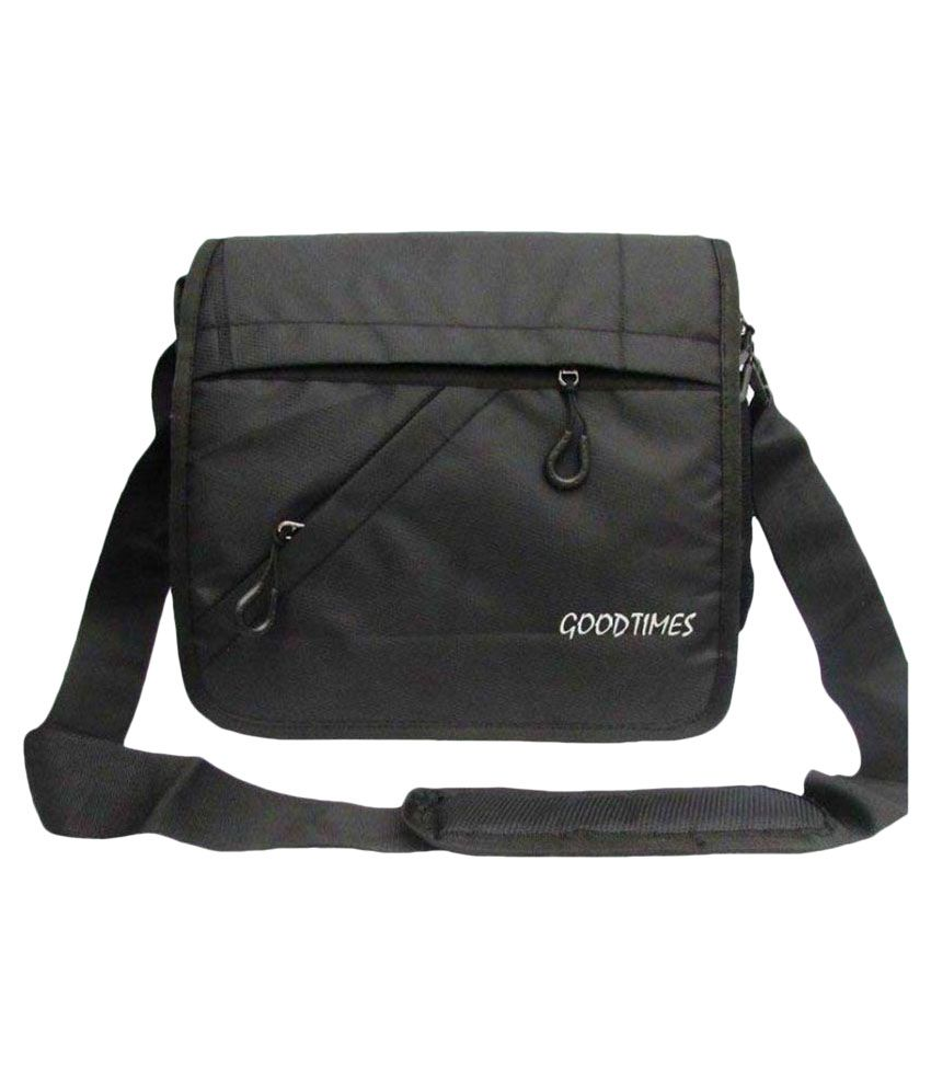 Good Times Black Hunt Black Polyester Office Messenger Bag - Buy ...