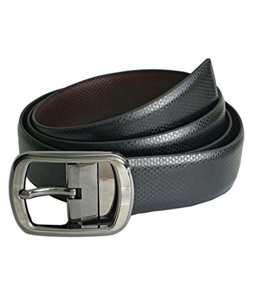 Natali Traders Black Faux Leather Casual Belts