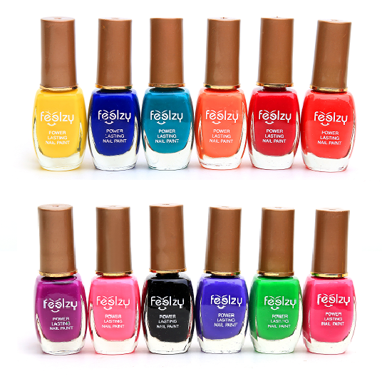 Foolzy Pack of 12 Nail Paints