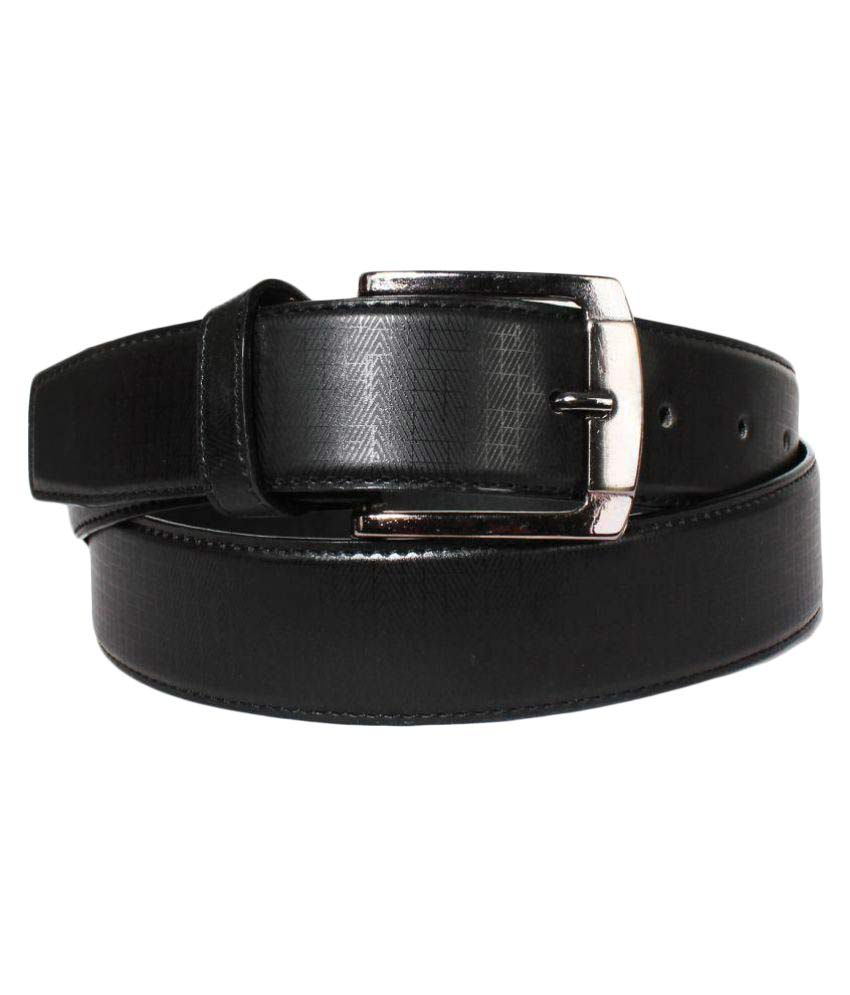 Klaska Black Leather Formal Belts
