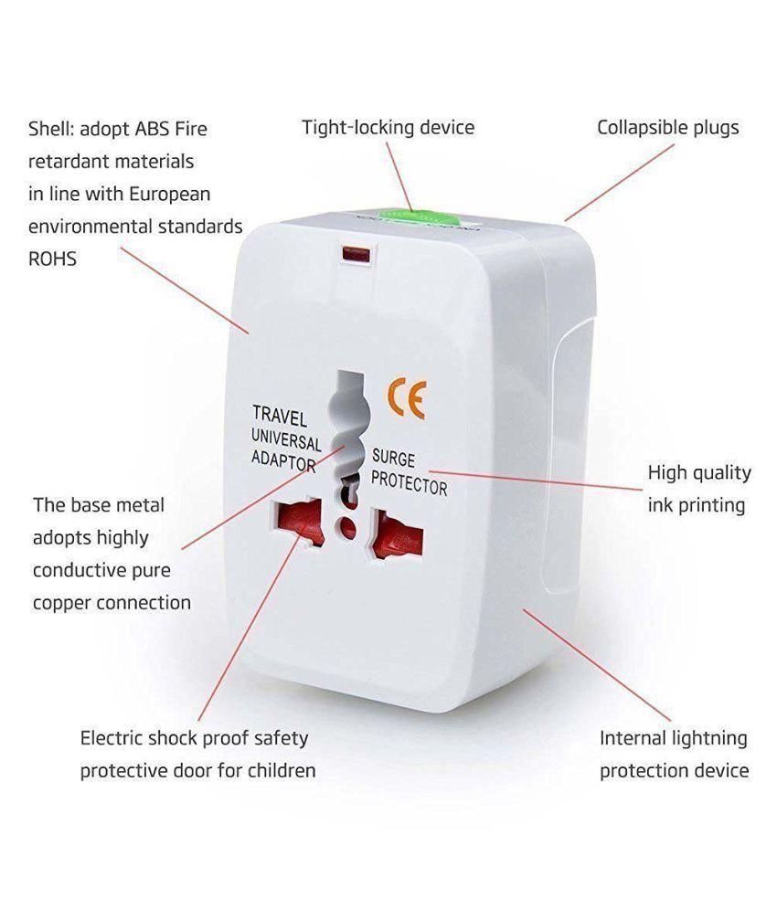 Storite Universal Travel Adaptor Surge Protector