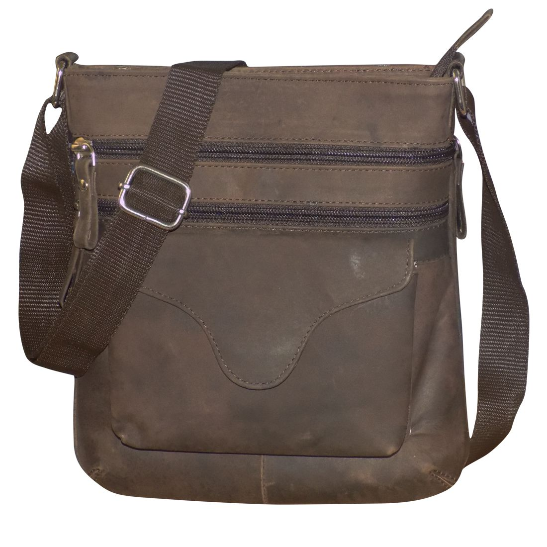 Style 98 Brown Leather Casual Messenger Bag