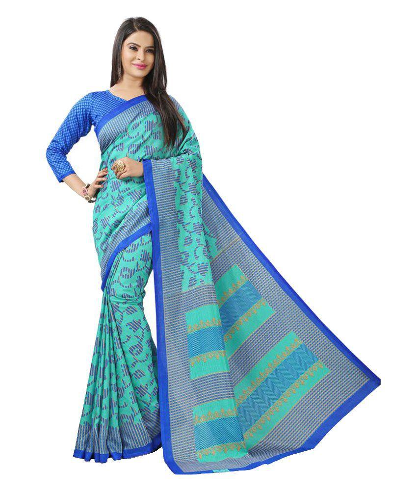 AJS Turquoise Art Silk Saree
