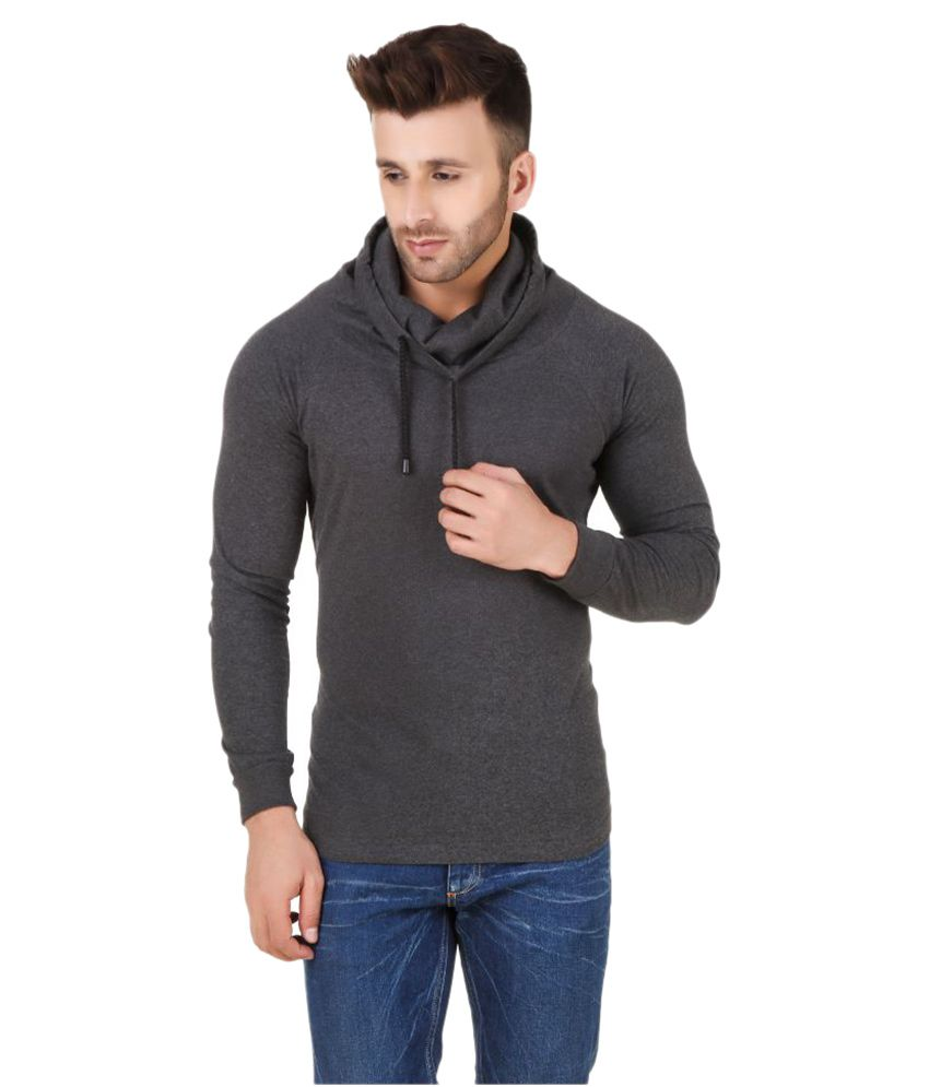Fabstone Collection Grey High Neck T-Shirt