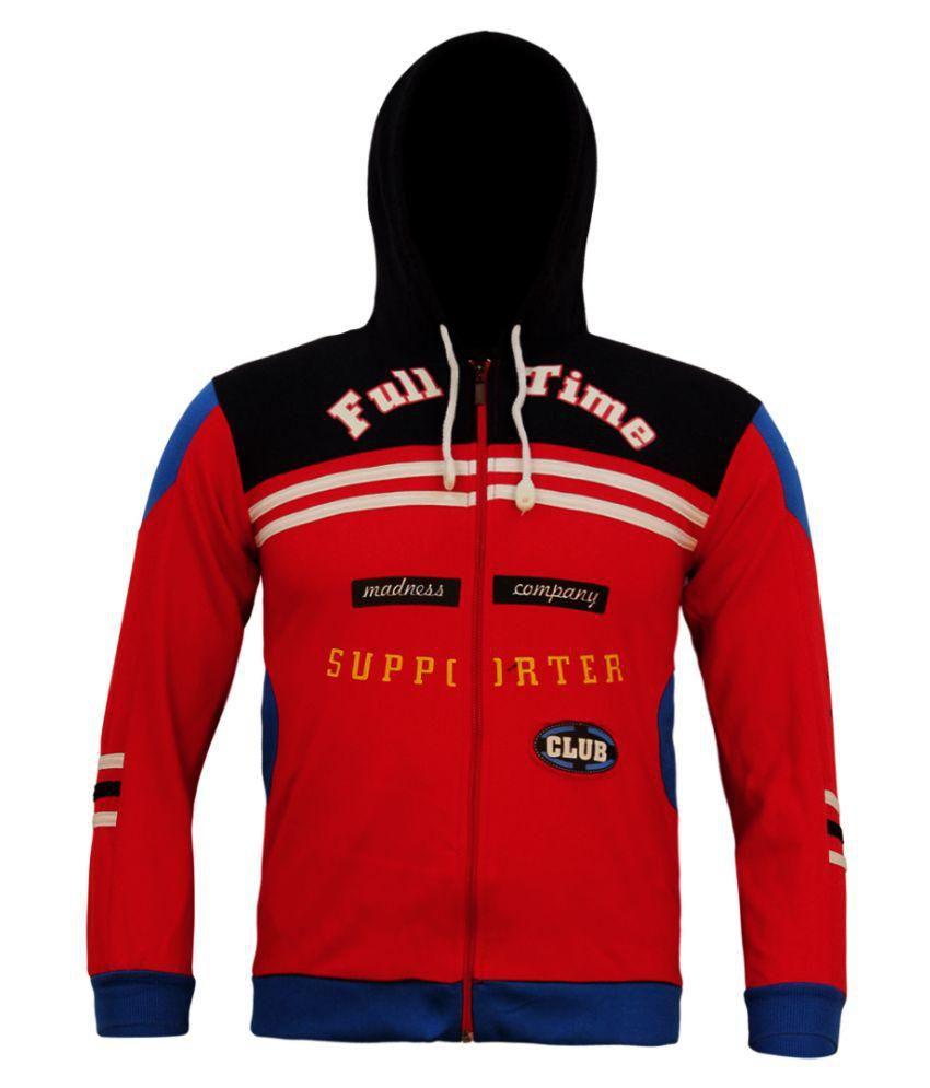 Kothari Red Cotton Sweatshirt
