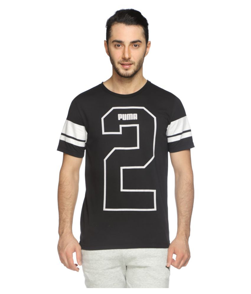 Puma Black Polyester T-Shirt Single Pack