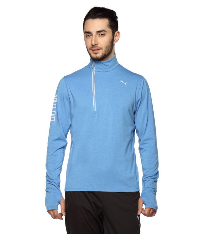 Puma Blue Polyester T-Shirt Single Pack