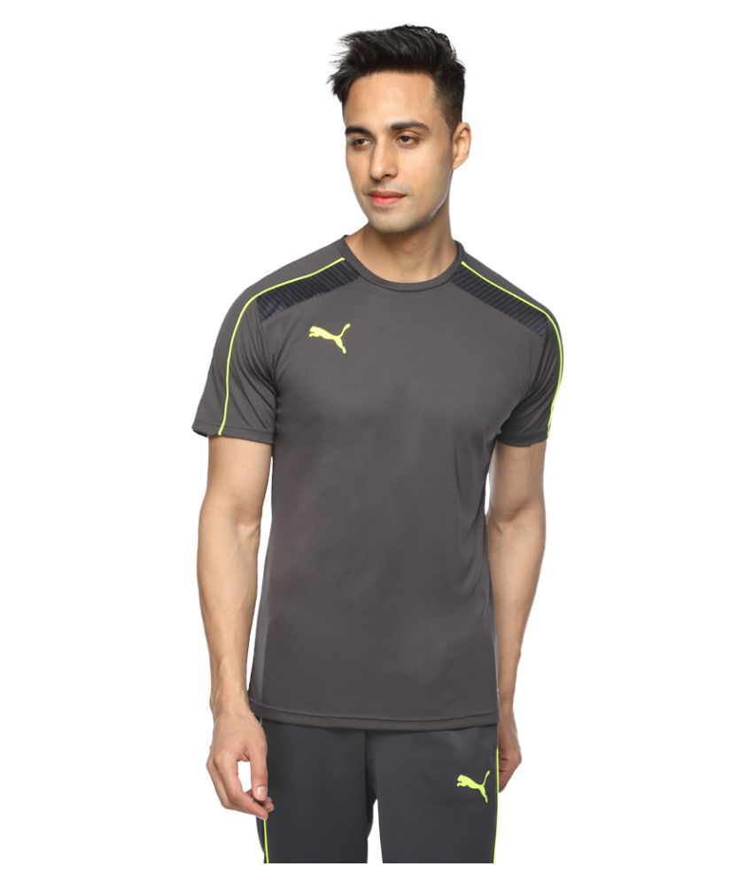 Puma Grey Polyester T-Shirt Single Pack