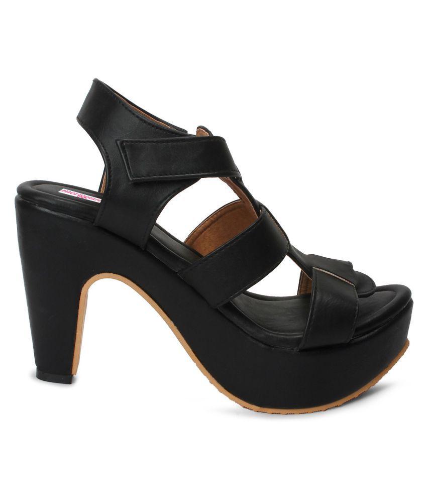 Meriggiare Black Heels Price in India- Buy Meriggiare Black Heels ...