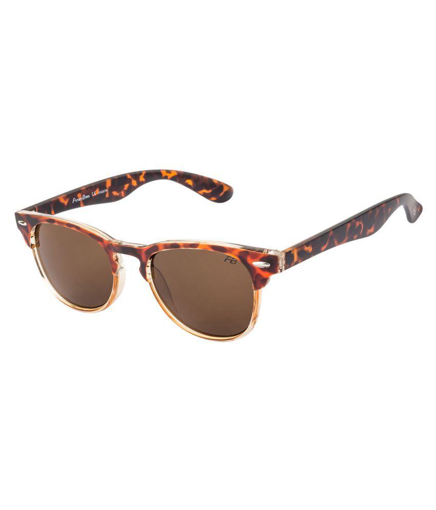 Funky Boys   Brown Square Sunglasses   FB 4100 C3