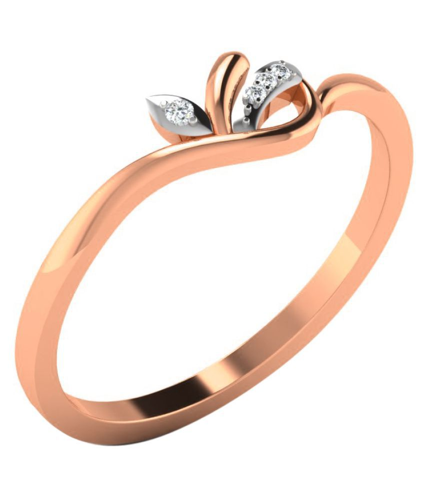 Sparkles 18K Rose Gold Diamond Ring