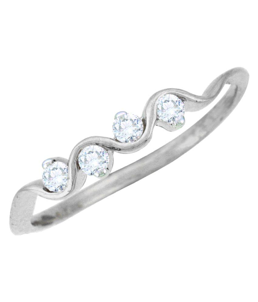 Sparkles 18K White Gold Diamond Ring