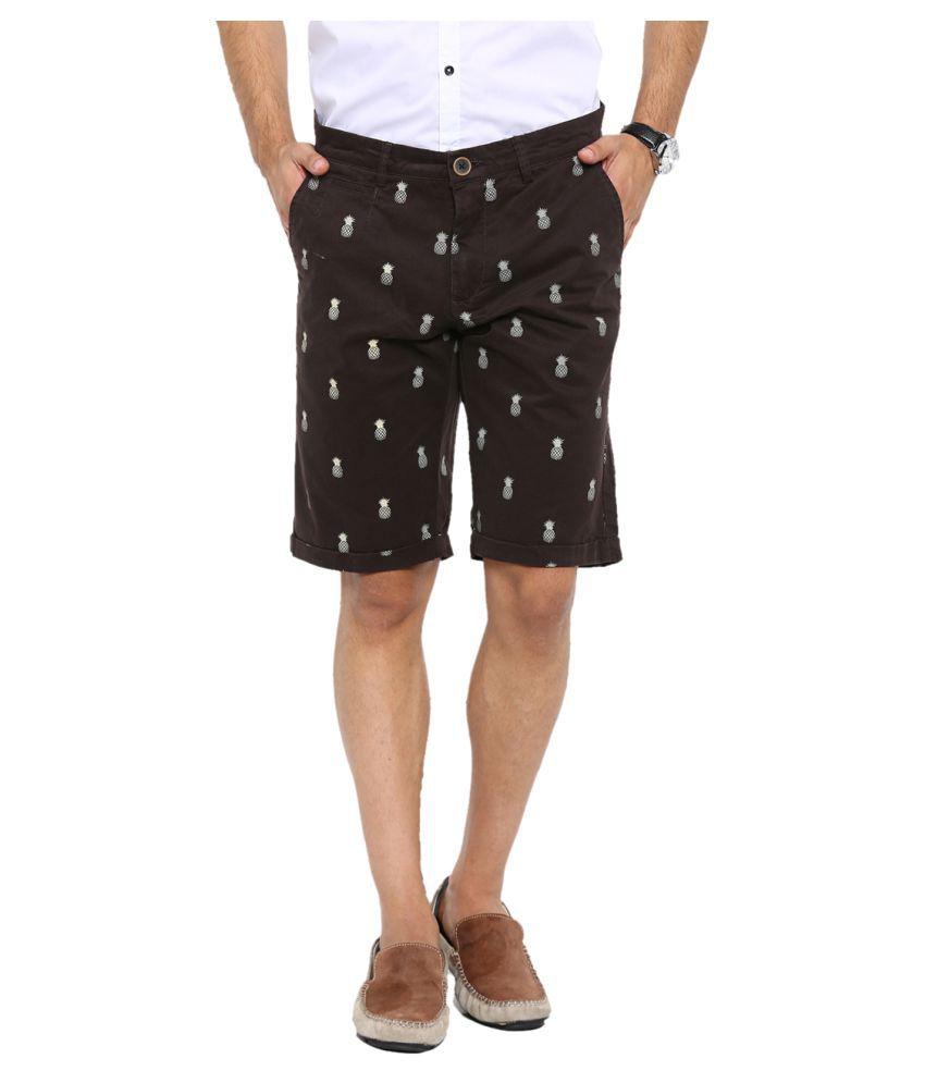 Showoff Brown Shorts