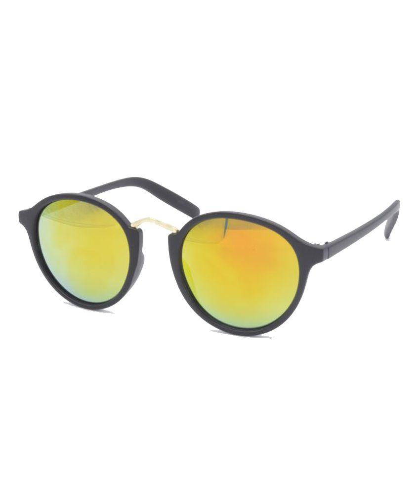 Hrinkar Golden Panto Sunglasses ( HRS408_1 )