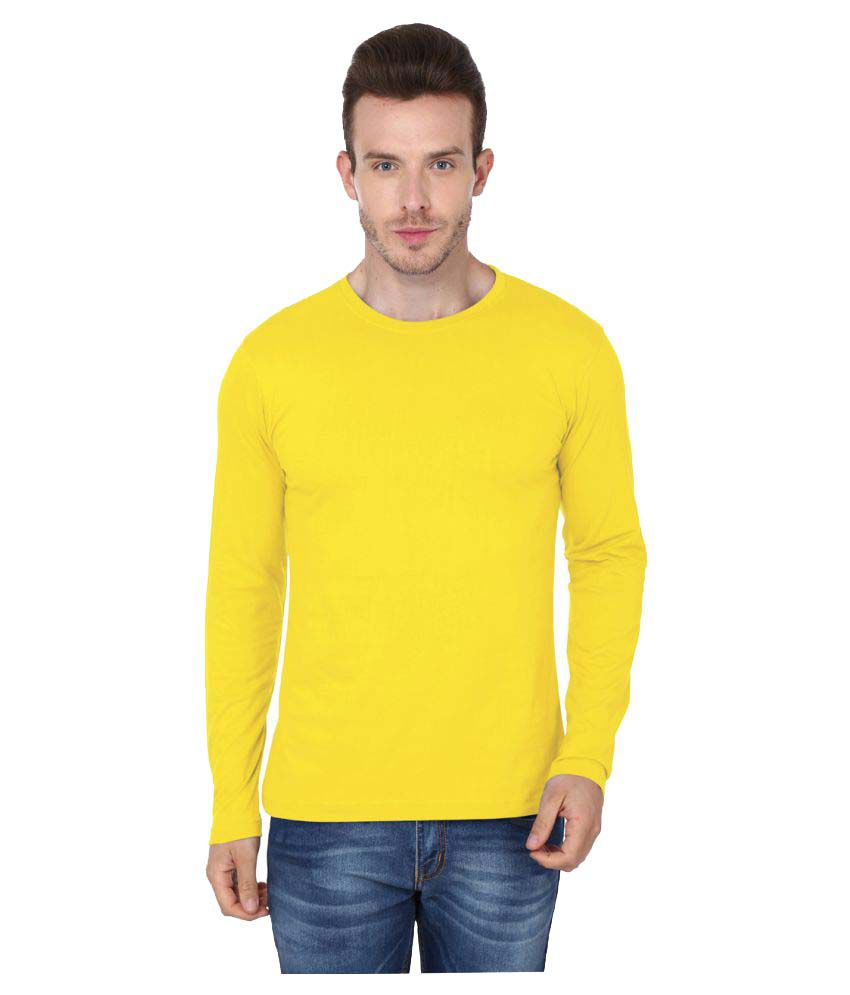 99tshirts Yellow Round T-Shirt