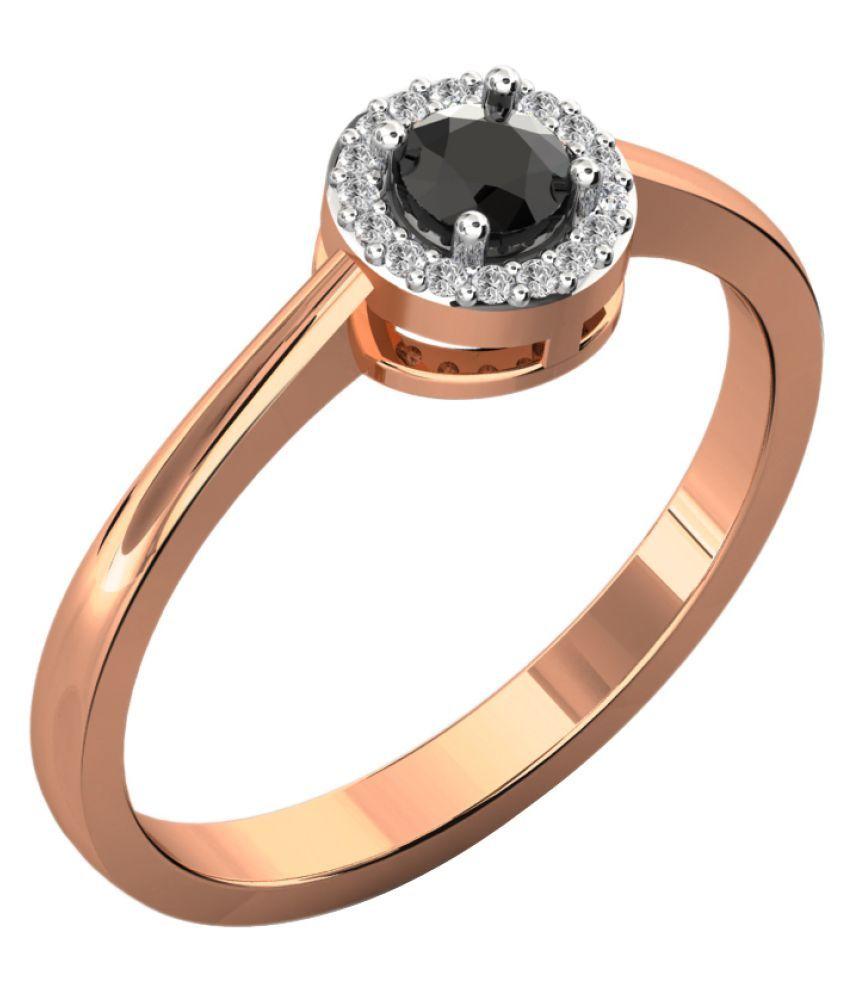 Sparkles 18K Rose Gold Diamond Ring