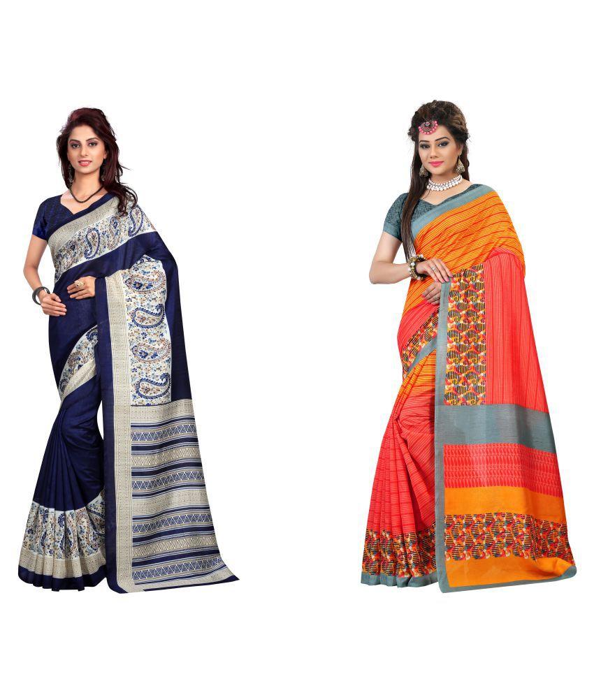 Trendy Store Multicoloured Bangalore Silk Saree Combos