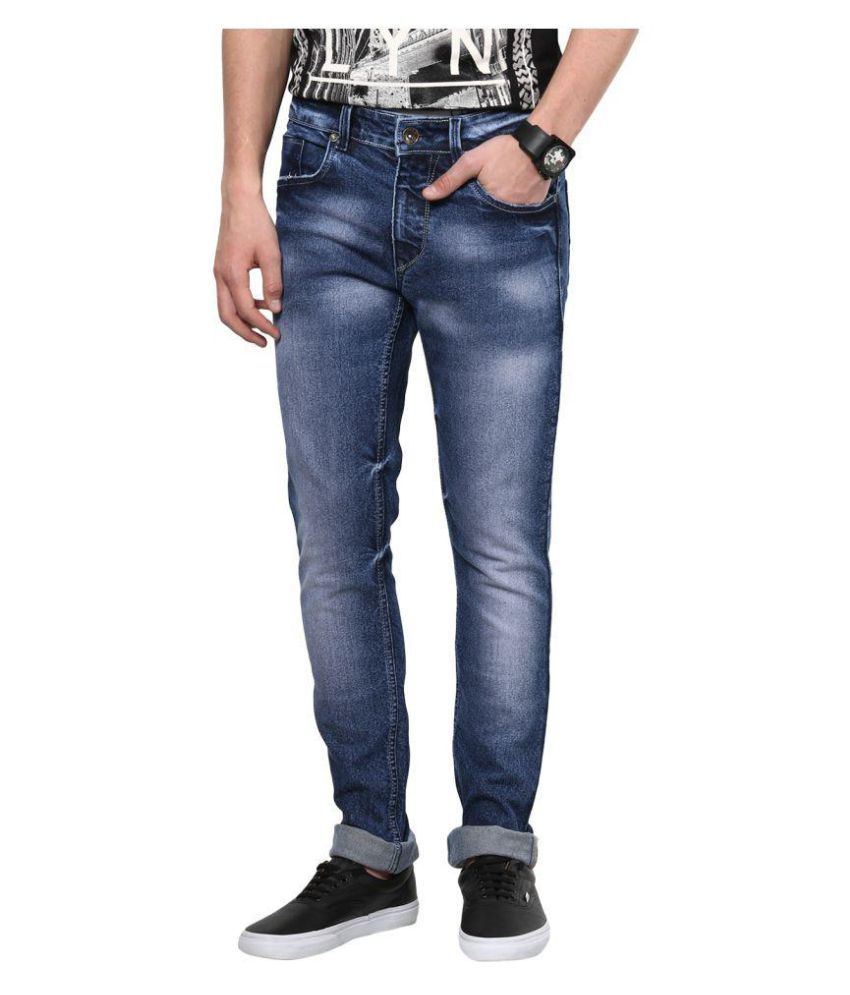 Superx Blue Regular Fit Faded