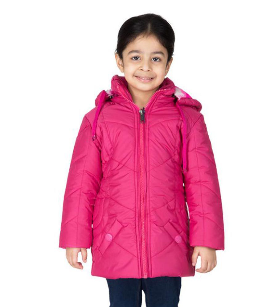 Asst Pink Polyester Hooded Bomber Jacket