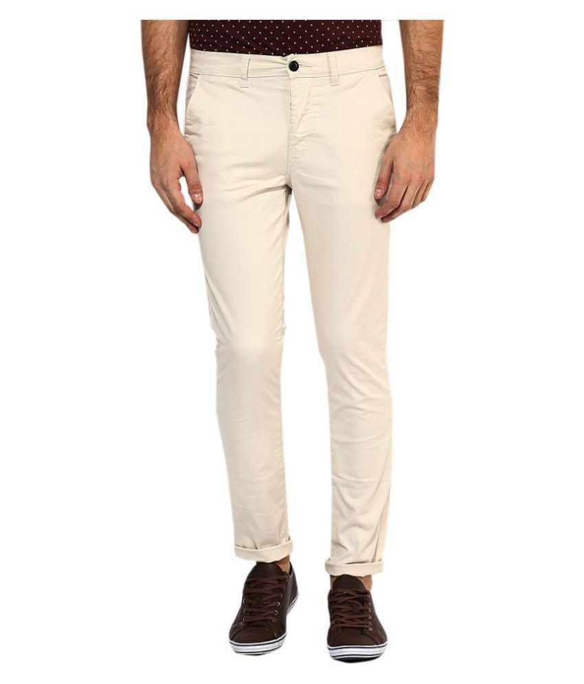AD & AV Off White Slim Flat Trouser