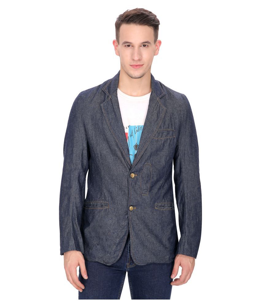 Mansi Collections Blue Solid Casual Blazers