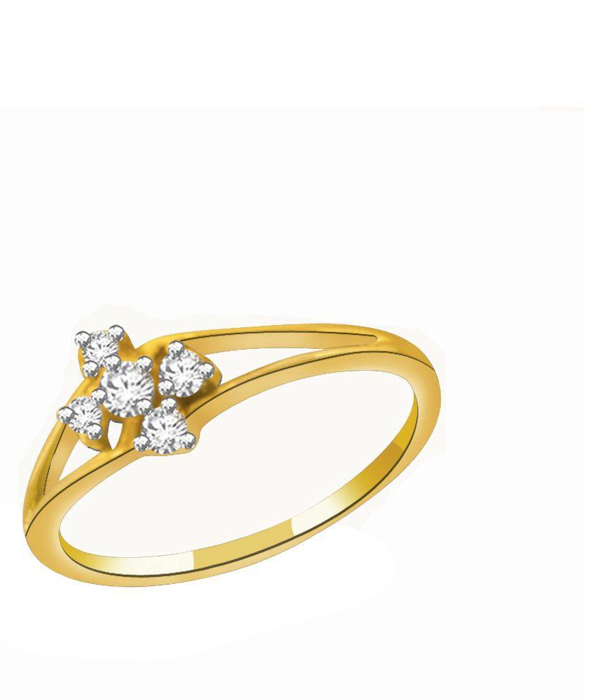 His & Her 9K Yellow Gold Diamond Ring