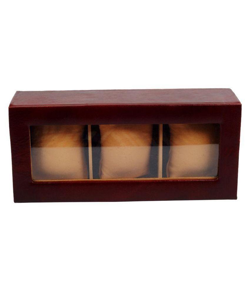 Zint Maroon Leather Jewellery Box