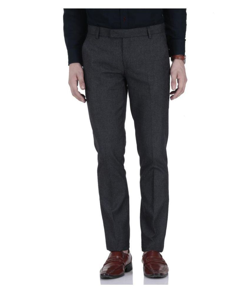 Fabulous Black Regular Flat Trouser