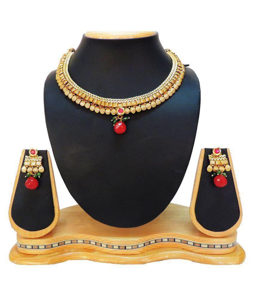 SatyamJewelleryNx Golden Copper Necklace Set