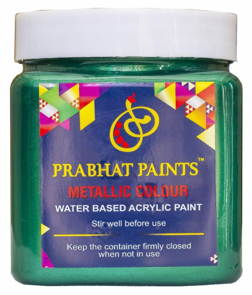Prabhat Paints Acrylic Metallic / Pearl Colours (500 gm, Dark Green) (Water based paint)