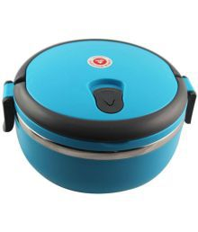 Shopizone Stainless Steel Hot Vaccum Insulated Lunch Box 700 Ml Durable Lunch Box Single Layer