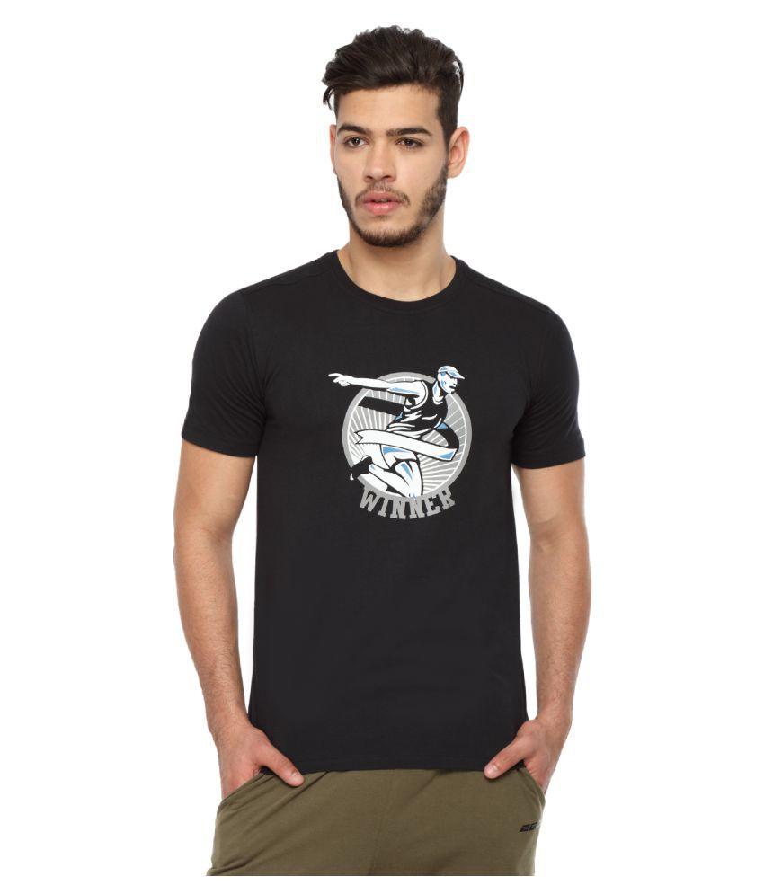 2go Black Round T-Shirt