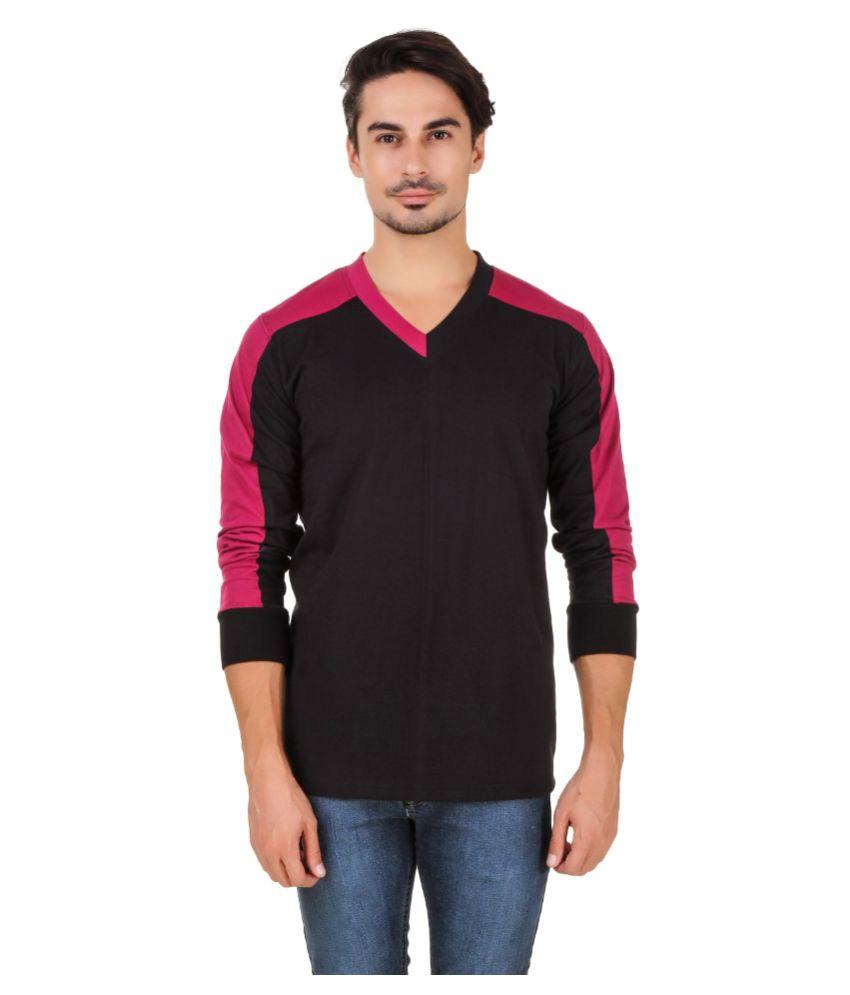 Aurelio Marco Black V-Neck T-Shirt