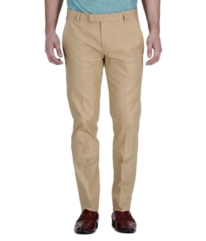 Fabulous Khaki Regular Pleated Trouser