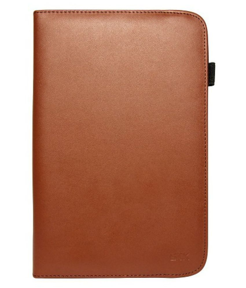 Iball Slide 3G I80 Flip Cover By STK Brown