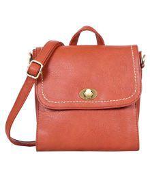 Lino Perros Brown Faux Leather Shoulder Bag