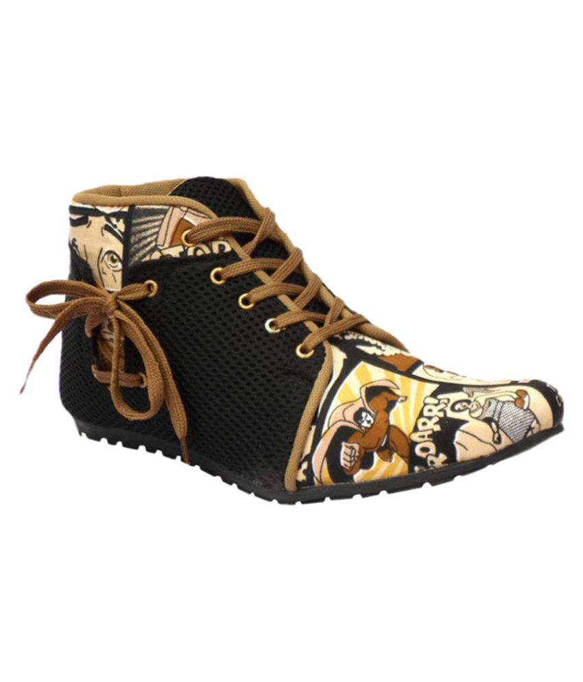 Black Field Muti Color Party Boot