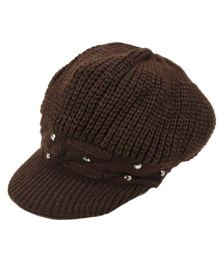 8e3066154aa Tiekart Brown Women Warm Caps  Buy Online at Low Price in India ...