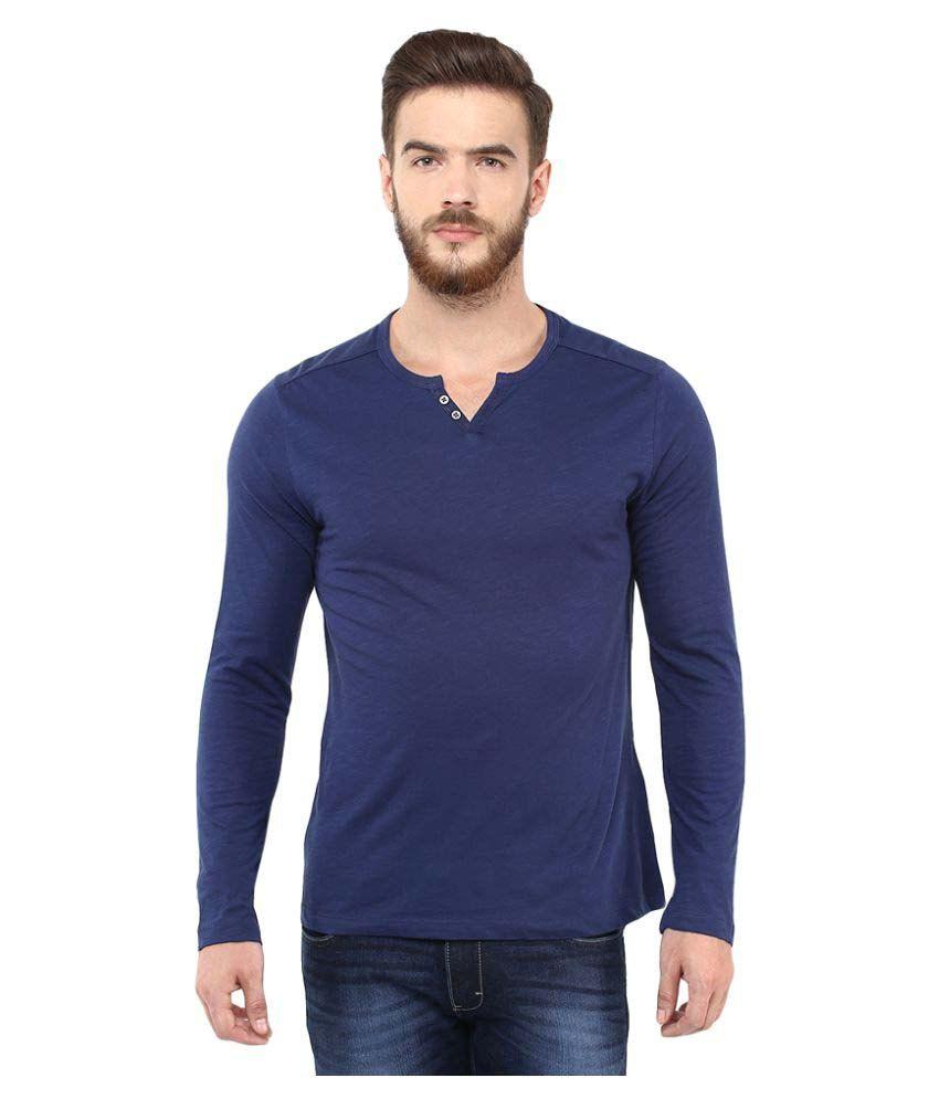 Celio Navy Henley T-Shirt