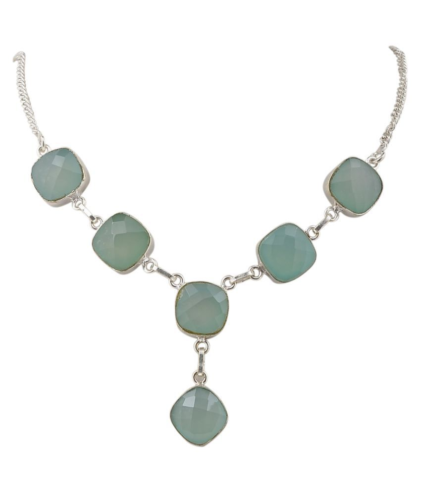 Jewel Fab Art Grey Necklace