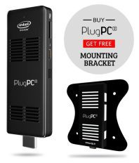 RDP PlugPC 2 | Compute Stick Intel Quadcore Processor 2GB/ 32GB Windows 10 Black