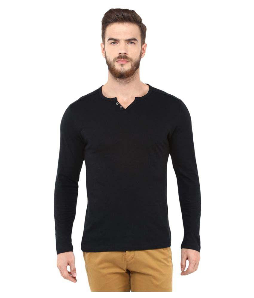 Celio Black Henley T-Shirt